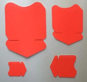 20 Flèches 4 Tailles Leuchtrot étiquette De Prix Carton Neon Publicité Deco Vitrine-afficher Le Titre D'origine