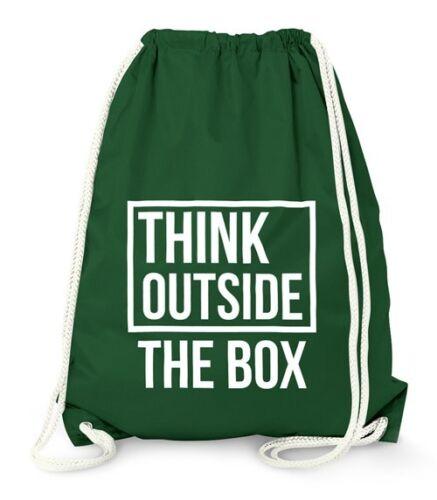 Turnbeutel Think Outside the Box Hipster Beutel Tasche Jutebeutel Gymsac Gymbag