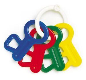 AMBI-Toys-primo-CHIAVI-Teether-Bambino-Neonato-Bambino-Sonaglio-attivita-giocattolo-BN