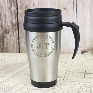 personalised travel mug coffee cup monogram thermal travel mug gifts