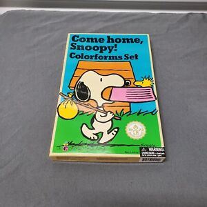 Peanuts Come Home SNOOPY Colorforms Charlie Brown 2018 Repro of Vintage 1972 Set