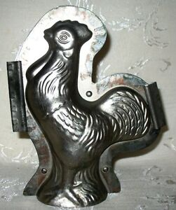 "Large Chocolate Mould of Rooster # 312  8.5"" in Height"