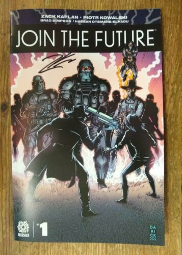JOIN THE FUTURE #1 *SIGNED* Darick Robertson STORE EXCLUSIVE Variant