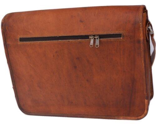 NEW Briefcase Mens Genuine Vintage Brown Leather Messenger Bag Shoulder Laptop