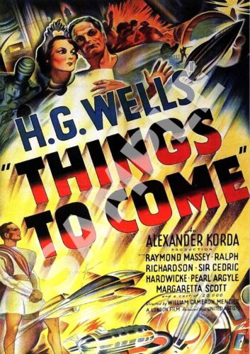 Things to come Vintage Movie Advertising Poster reproduction.