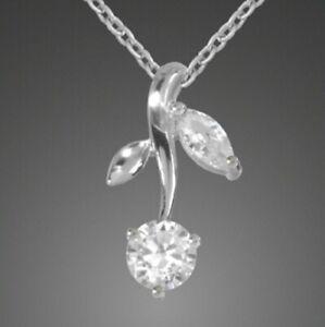 Blumen-Anhaenger-925-Sterling-Silber-mit-Zirkonia-Anhaenger-Blume-Top-Edel