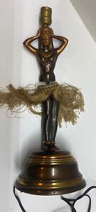 Antique Vintage Dodge Hawaii Hula Girl Motion Dancing Lamp 1940s NOT WORKING