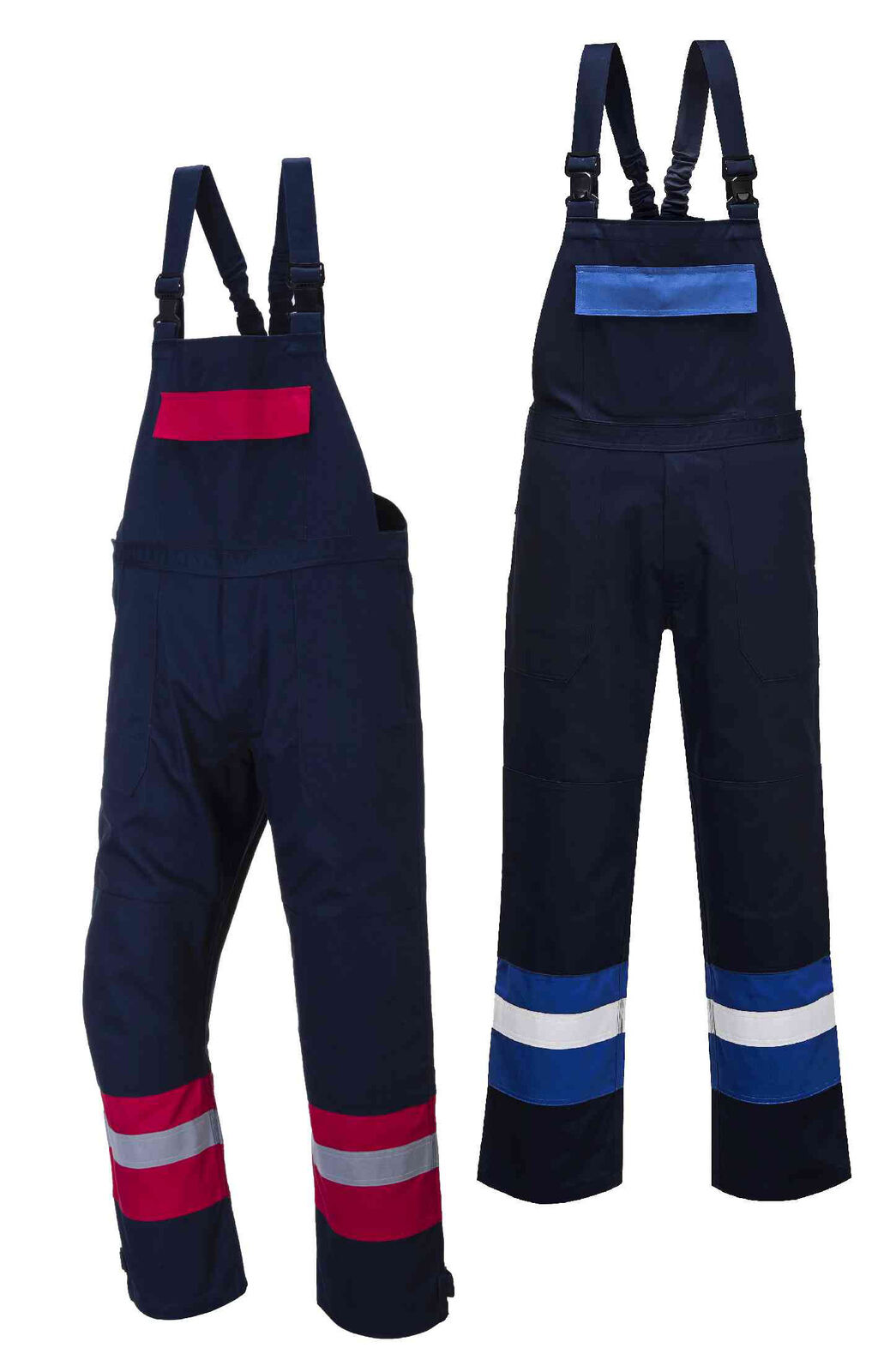 Portwest FR57 Bizflame Plus navy flame-resistant anti-static bib and brace S-4XL