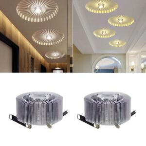3W-LED-Aluminium-Deckenleuchte-Leuchte-weisse-Lampe-Beleuchtung-Leuchter-Haus