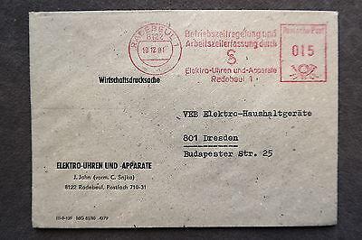 Ddr Firmen Stempel Elektro Uhren Und Apparate J.jahn Radebeul Brief /s8