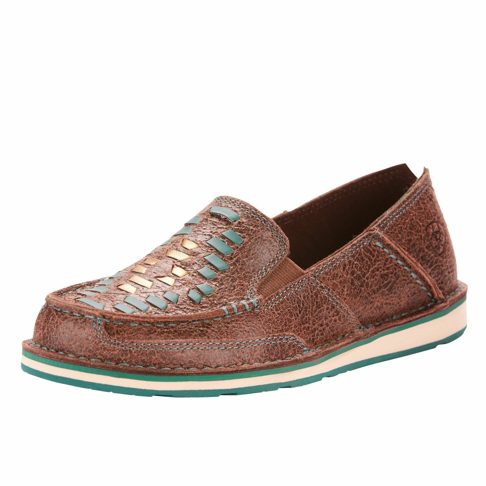 Ariat Wouomo  Marronee Rebel Turquoise Weave Cruisers 10025023  per offrirti un piacevole shopping online