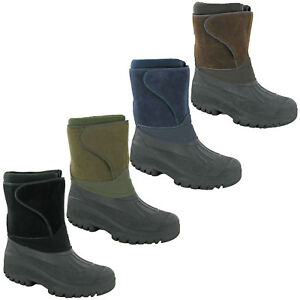 Groundwork-Snow-Winter-Boots-Ice-Calf-Waterproof-Hiking-Touch-Fasten-Strap-Mens