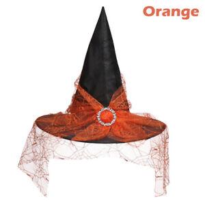 Dress Mesh Gauze Costume Headwear Halloween Witch Hat Props Decor Wizard Cap