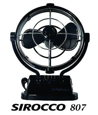 CAFRAMO SIROCCO 807 12V BLACK FAN FOR CARAVAN BOAT RV, PARTS ACCESSORIES STEPS
