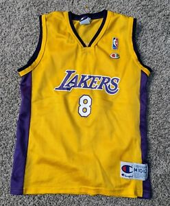 Details about Champion Los Angeles Lakers #8 Kobe Bryant Youth Jersey size 10/12