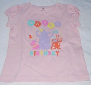 Image Is Loading Toddler Girls 12 Months Pink HAPPY BIRTHDAY T