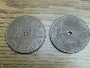 Heritage Park Calgary Adult Fare Token ca 1964 w/ Locomotive HOLE NOT PUNCHED