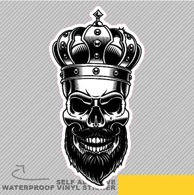King Skull With Crown Vinyl Sticker Decal Window Car Van Bike 2927 Ebay