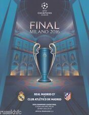2016 CHAMPIONS LEAGUE FINAL REAL MADRID V ATLETICO MADRID