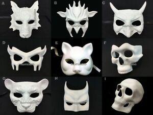 Blank Unpaint White DIY Masquerade Halloween Party ...