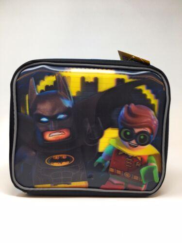 DC Comics LEGO 3D Batman Robin Mini Figure School Lunch Bag Box Tote