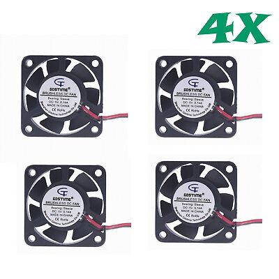 4 Pcs 5V 40mm Cooling Computer Case Fan 4010S 40x40x10mm 2-Pin US