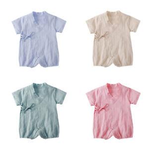 7880cafb96a0b Newborn Baby Kids Boys Girls Infant Romper Jumpsuit Bodysuit Cotton ...