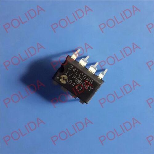 10PCS IC MICROCHIP DIP-8 24LC08B-I//P 24LC08B