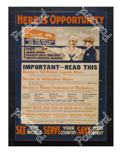 Historic-WWI-Recrutiment-Poster-opportunity-See-the-world-Postcard