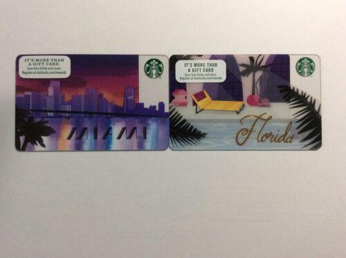 Geschenkkarte Starbucks USA Miami /& Florida  Set mit 2 Karten