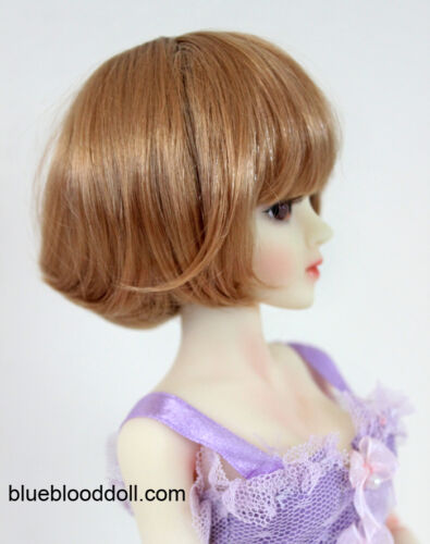 "1//4 1//6 bjd msd 6-7/"" doll head copper red short wig Lati Iplehouse YOSD W-JD256S"