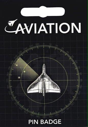 Vulcan Aeroplane Pewter Pin Badge