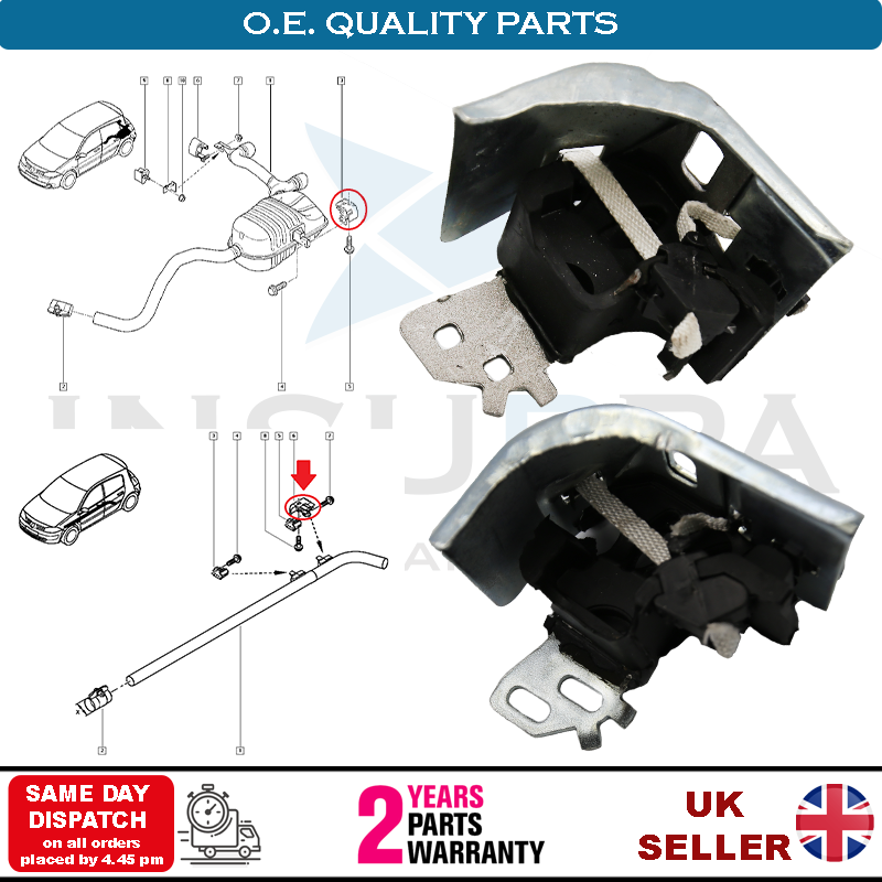 EXHAUST RUBBER HANGER MOUNT FRONT MIDDLE BRACKET FOR RENAULT GRAND SCENIC MK2
