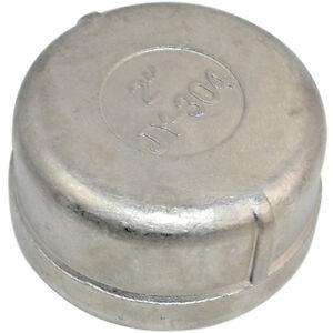 2-034-Cap-Female-Stainless-Steel-SS304-Threaded-Pipe-Fitting-NPT-NEW