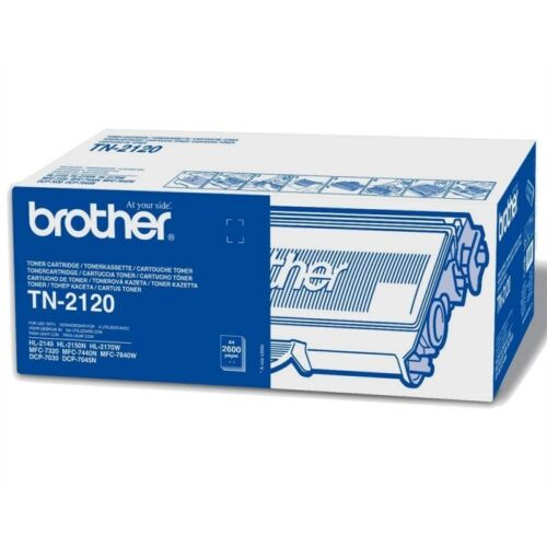1 x Brother Original OEM Black Laser Toner Cartridge TN2120 2600 Pages