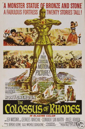 The Colossus of Rhodes Rory Calhoun  Movie poster print