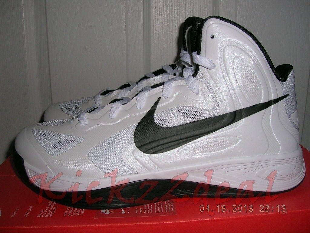 NEW NIKE HYPERFUSE TB 2012 Shoes White/Black SZ 10.5 ~ 12 525019-100 hyperdunk