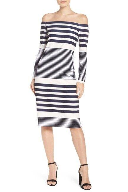 Eliza J Off the Shoulder Midi Dress (Größe 4)