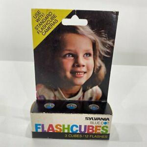 Sylvania Blue Dot Flashcubes Camera Flash Cubes 3 Pack 12 Flashes NEW OLD STOCK