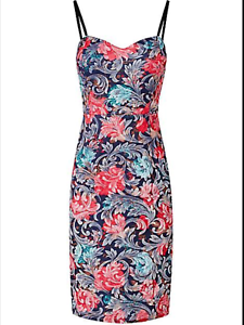 edefaa30d18e Joe Browns Size 10 Party The Night Away Multi Floral DRESS Occasion ...