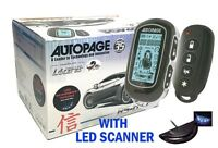 Autopage Rs-677p 2-way 4-channel Lcd Car Remote Start/security Alarm Rs-677p