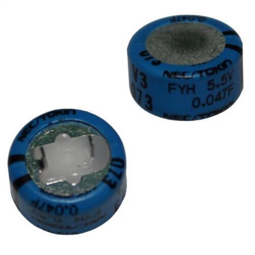 5x goldcap condensador 0,22f 5,5v; rm5 d14x14mm; fyd0h224zf