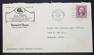 Brown-Shoes-Advertising-Envelope-Berkeley-Washington-3c-1933-USA-Letter-Y-376