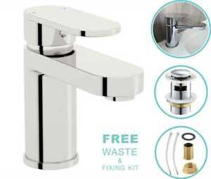 NEW-Modern-Waterfall-Bathroom-Tap-Basin-Sink-Mono-Mixer-Chrome-Cloakroom-Waste