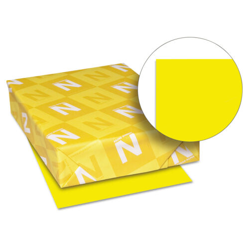 Neenah Paper Astrobrights Colored Card Stock 65 lb 8-1//2 x 11 Solar Yellow 250