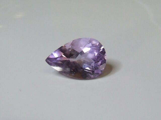 Natural earth-mined large amethyst pear shaped gemstone...15.5 carat
