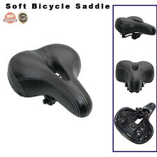 Wide Big Bum Sprung Bike Bicycle Cruiser Comfort Saddle Seat Soft Pad Unisex