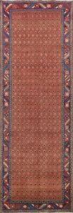 Vintage Paisley Hamedan Hand-knotted Runner Rug Hallway Oriental 3'x10' Carpet