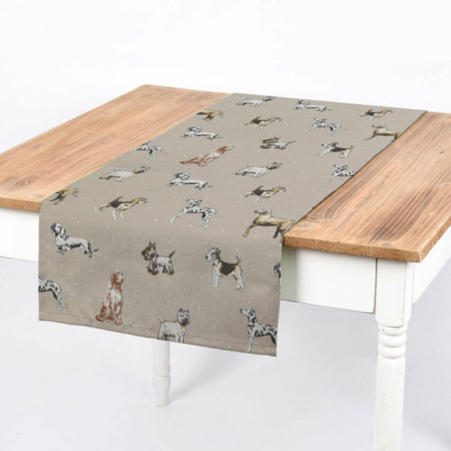 De Table Coureur Studio G chiens Beige 40x160cm Belle Vie