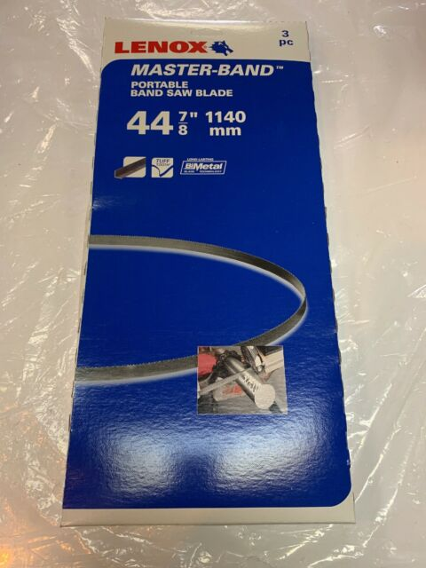 "NEW Lenox 8011238EW1418 Master-Band Portable Band Saw Blades 3 Pack 44-7//8/"""